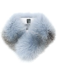Mr And Mrs Italy Two Tone Fur Collar Blue