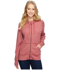 Carhartt Meadow Zip Front Hoodie Dried Rose Heather Women's Sweatshirt Pink