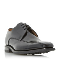 Loake Tramline Leather Derby Shoes Black