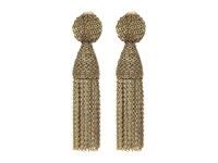 Oscar De La Renta Class Short Chain Tassel Earrings Gold