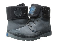 Palladium Baggy Leather Gusset Anthracite Turbulence Men's Lace Up Boots Blue