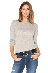 Vince Distressed Trim Crew Gray