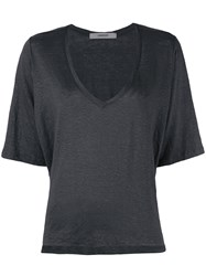 Humanoid Draped T Shirt Grey