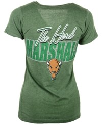 Royce Apparel Inc Women's Short Sleeve Marshall Thundering Herd Bira T Shirt Green