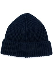 Universal Works Ribbed Beanie Blue