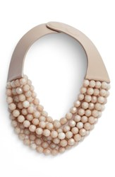 Fairchild Baldwin 'S Beaded Collar Necklace Champagne Taupe