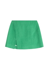 Isa Arfen Linen Mini Skirt