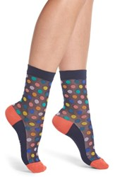 Paul Smith Franny Rainbow Ankle Socks Navy Multi