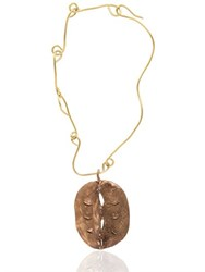 Maggie Maggi Grey Apple Handmade Bronze Pendant