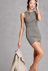 Forever 21 Ruched Bodycon Dress Olive