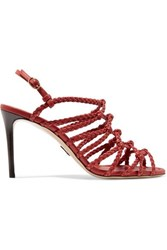 Paul Andrew Who's That Braided Leather Sandals Red