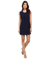 Brigitte Bailey Edith Scallop Sleeve Dress Navy Women's Dress