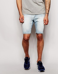 Pull And Bear Pullandbear Denim Cut Off Shorts In Light Wash Blue