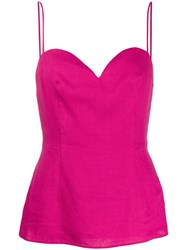 Theory Sweetheart Neckline Top Pink