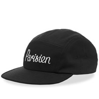 Maison Kitsune Parisien 5 Panel Cap Black
