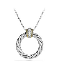 Cable Classics Large Pendant With Diamonds And Gold On Chain David Yurman Multi Colors
