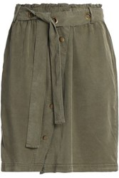 Splendid Twill Mini Skirt Army Green