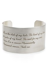 Dogeared Women's 'Legacy Collection Phenomenal Women' Wrist Cuff Silver