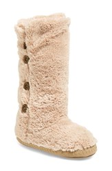 Women's Bedroom Athletics 'Grace' Tall Slipper Boot Gingerbread Faux Fur