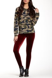 American Apparel Stretch Velvet Legging Red