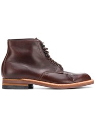 Alden Lace Up Ankle Boots Brown
