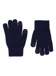 Topman Navy Touch Screen Gloves Blue