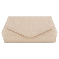 Jacques Vert Sparkle Evening Clutch Bag Mid Neutral