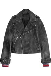 Marc By Marc Jacobs Washed Leather Biker Jacket Black