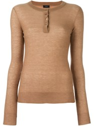 Joseph Henley Jumper Brown