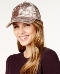 Inc International Concepts Crushed Velvet Baseball Cap Created For Macy's Taupe
