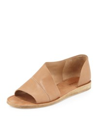 Vince Tabitha Asymmetric Leather Flat Sand