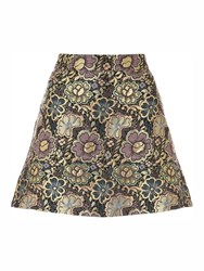 Jane Norman Jacquard Mini Skirt Multi Coloured