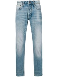 Denham Jeans Heavy Washed Mid Rise Blue