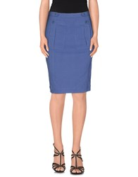 Burberry Brit Skirts Knee Length Skirts Women Slate Blue