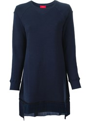 Undercover Pleated Hem Sweatshirt Blue