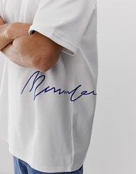 Mennace Signature T Shirt In White