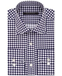 Sean John Men's Fitted Tailored Cut Purple Print Dress Shirt