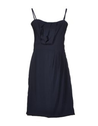 E Go' Sonia De Nisco Short Dresses Dark Blue