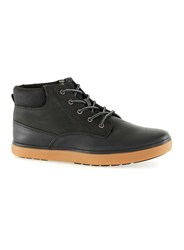 Topman Black Faux Leather Short Cuff Boots