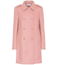 Red Valentino Double Breasted Wool Blend Coat Pink