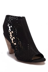 Vince Camuto Elison Leather Open Toe Boot Black 03