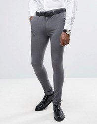 Rogues Of London Super Skinny Suit Trousers Grey