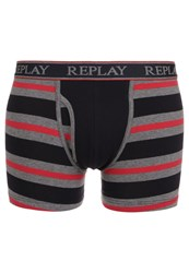 Replay Shorts Grey Darkblue Red
