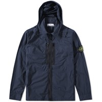 Stone Island Tela Parachute Hooded Jacket Blue