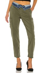 Hudson Jeans Foldover Cargo In Green. Isolated Troop