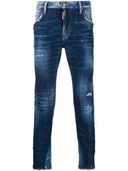 Dsquared2 Distressed Skinny Jeans Blue