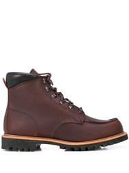 Red Wing Shoes Sawmill Lace Up Combat Boots Brown