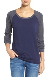 Petite Women's Caslon Lightweight Colorblock Cotton Tee