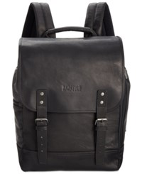 Kenneth Cole Reaction Men's Colombian Leather Backpack Black