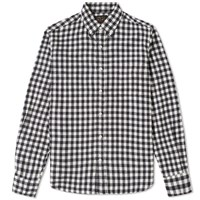 Beams Plus Button Down Shaggy Gingham Shirt Black